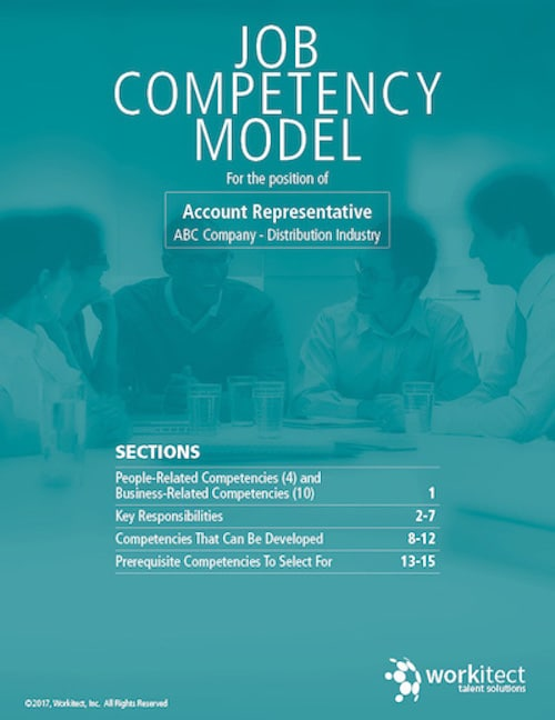 account representative competency model